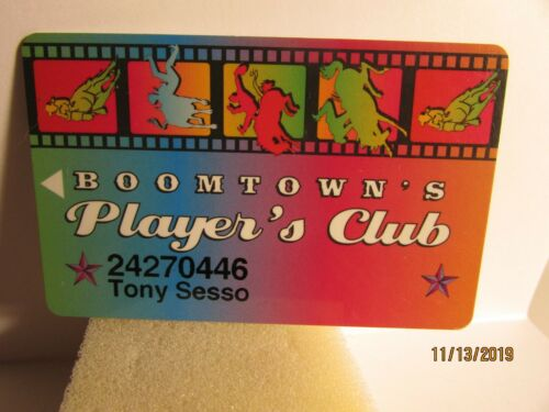 Boomtown Casino -Reno, NV.-Players Club Slot Card- mint condition
