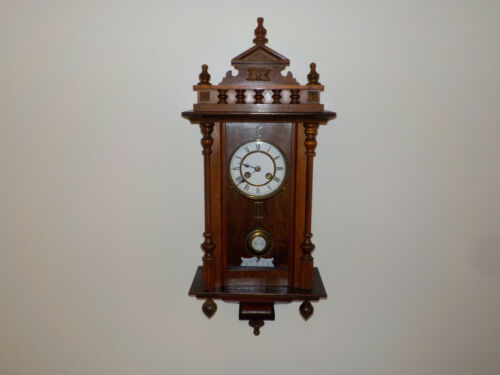 Antique German Wall Clock Old Antique Regulator Vintage Working RA PENDULUM