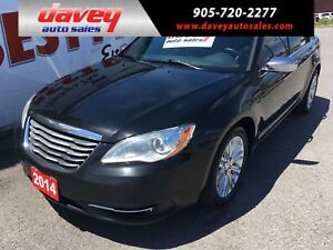 2014 Chrysler 200 Limited SUNROOF, LEATHER HEATED SEATS, BLUE...