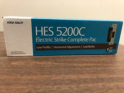 New Hes 5200c 5200c-12d24d-630 Electric Strike Complete Pac.