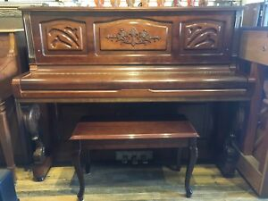 Young Chang upright walnut Piano