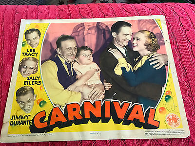Carnival 1935 Columbia comedy lobby card Jimmy Durante Sally Eilers Lee Tracy