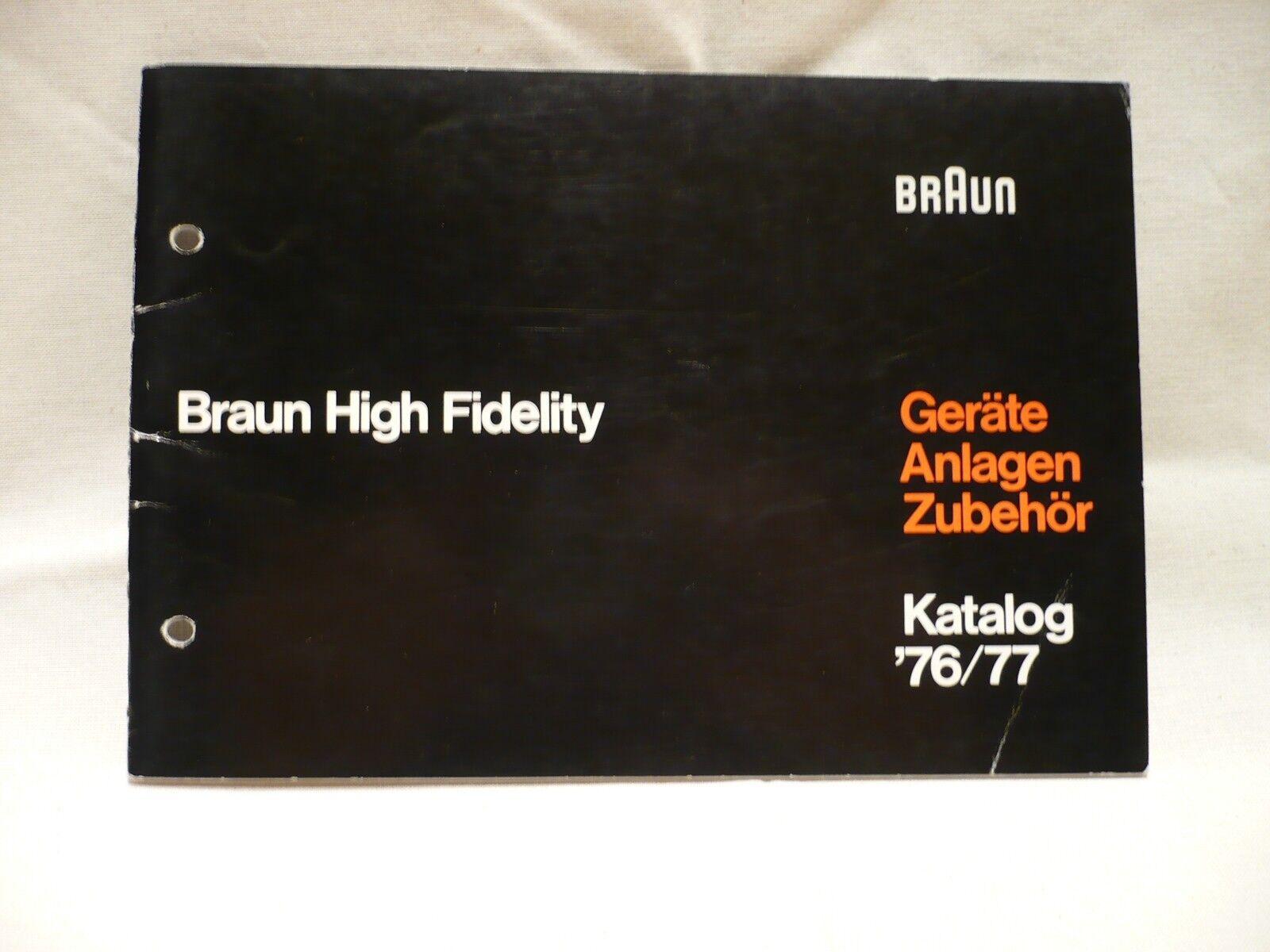 Braun Katalog 76 / 77 Geräte Anlagen Zubehör