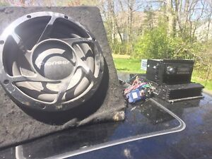 """12"""" sub with 300wat amp and aftermarket deck"""
