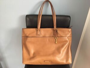 New Authentic Fossil Leather Julia Large Tote