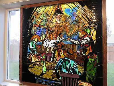 Stained Glass Cowboy Window Masterpiece