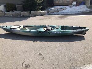 Sit on top fishing kayak