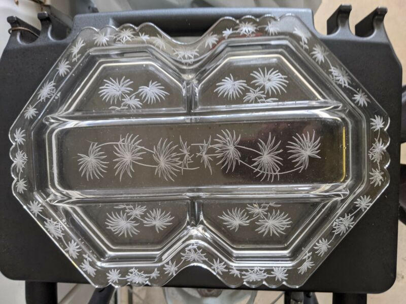 "Vintage Fostoria LIDO  5-part Relish Tray 13 """