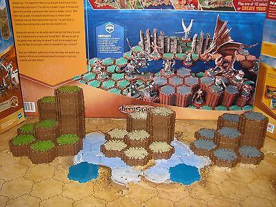 Heroscape Terrain 64 hexes grass rock sand tiles mm Arena of the Planeswalkers