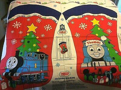 Thomas The Train Engine Christmas Stocking - Fabric Panel Uncut Large Toddlers  - Large Christmas Stocking