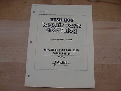 Bush Hog Rotary Cutter Parts Catalog Manual 255r 256r 257r 1257r 255r-2