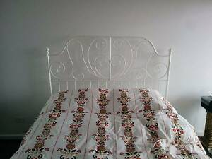 Ikea Queen sized bed with Hafslo Mattress North Melbourne Melbourne City Preview