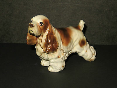 Dog Figurine Japan Vintage Spaniel English Spaniel Cute Puppy!!!