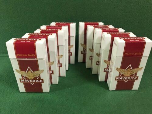 10 Lot Empty Cigarette Boxes. Maverick Red 100