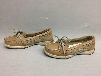 Sperry Top Sider 9773581 Womens Laguna Boat Shoes Linen/Oat, Size 6M US  for sale  Shipping to South Africa