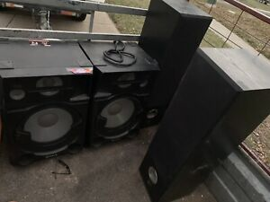 Sony and DLS speakers 1000w