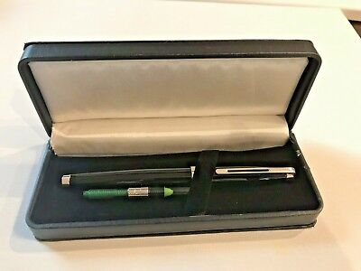 Black Lacquer Chrome Trim (New German Black Lacquer Fountain Pen Chrome trim MED nib GORGEOUS New in)