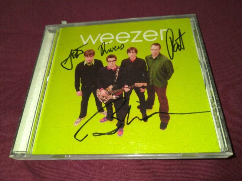WEEZER SIGNED AUTOGRAPHED GREEN ALBUM