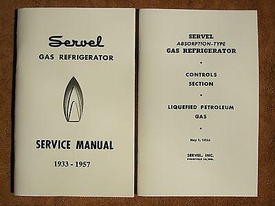 Servel gas refrigerator Service Manual for 1933 - 1957 models (Refrigerator Manuals)
