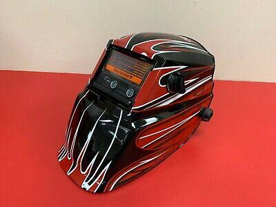 Lincoln Electric Red Fierce Auto Darkening Welding Helmet Variable Shade 7-13