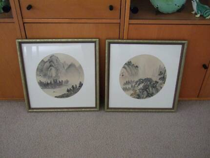 Old-World Chinese Scene Prints. Perfect Cond.