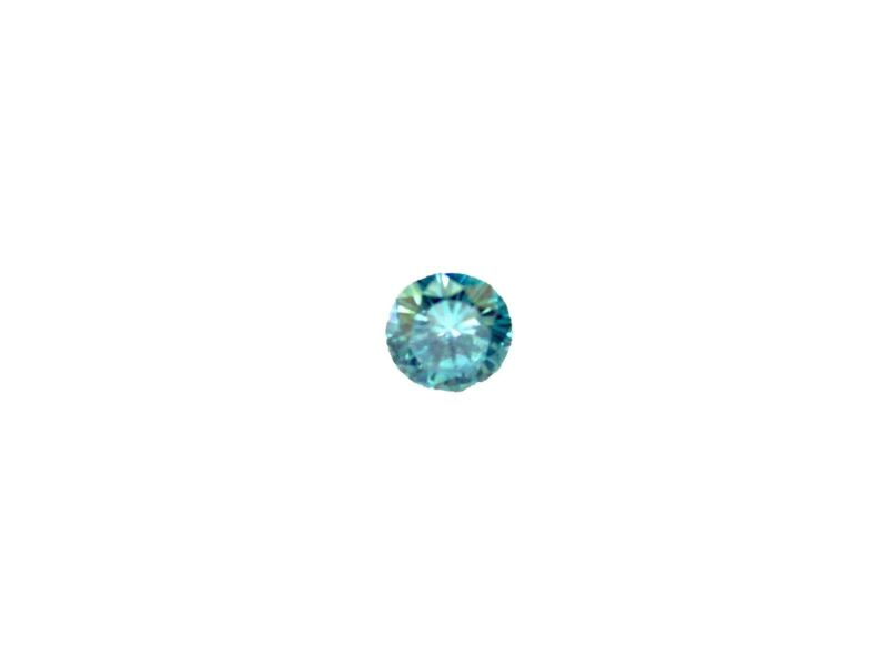 USGA BLUE DIAMOND ROUND BRILLIANT SHAPE LOOSE DIAMOND