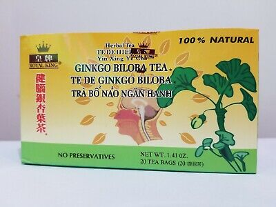 Royal King 100% Natural Herbal  Ginkgo Biloba Tea 20 Tea Bags - Ginkgo 20 Bags