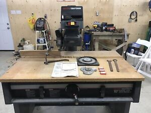 "CRAFTSMAN 10"" heavy duty radial saw"