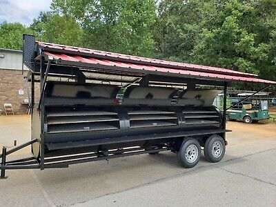 Mega Grill Master Roof Bbq Smoker Cooker Trailer Mobile Food Truck Business