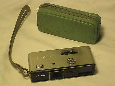 Vintage Minolta subminiature camera -16 Model P w/ case photography 377418 Japan
