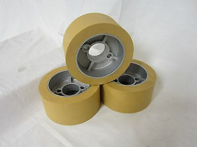 Rubber Power Feeder Roller Wheels Ro-12 Set Of 3 For Most 1hp Feeders