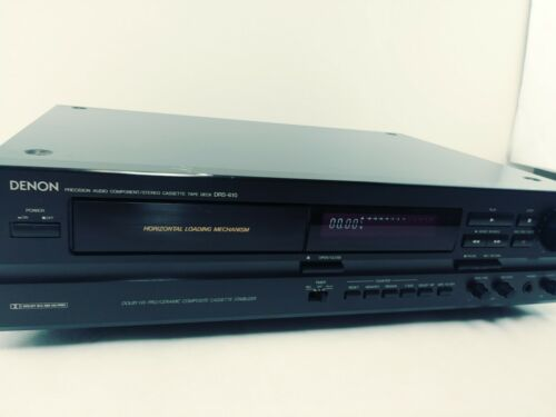 Denon DRS-610 Horizontal Loading Audio Cassette Tape Deck Works Great!