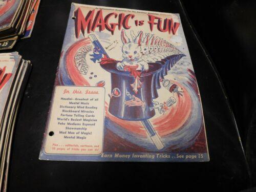 Magic Is Fun Magazine For Amateur Magicians Issue #1 Joseph Dunninger