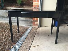 Black Desk with Glass Top Caringbah Sutherland Area Preview