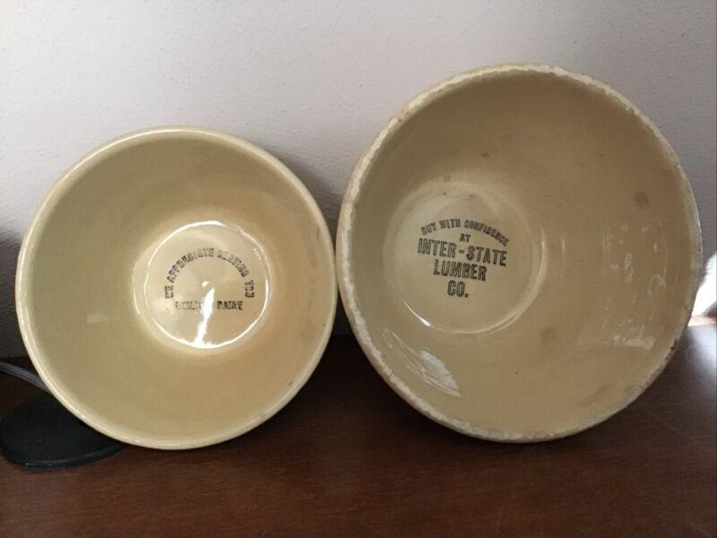 Choice of Vintage Watt Pottery Company Advertising Premium Ware Mixing Bowls 5&6