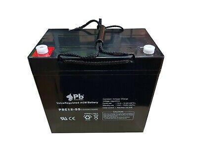 Batería para carro golf/moto eléctrica PB AGM Ciclo profundo PBC12-55 12V 55Ah