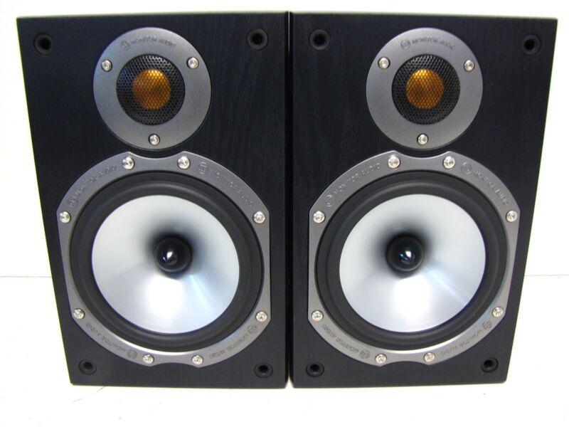 Pair of Monitor Audio Bronze BR1 Bookshelf Speakers (Black) - Tested/Working
