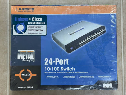 Linksys/Cisco  Small Business Unmanaged (SR224) 24-Ports External Switch
