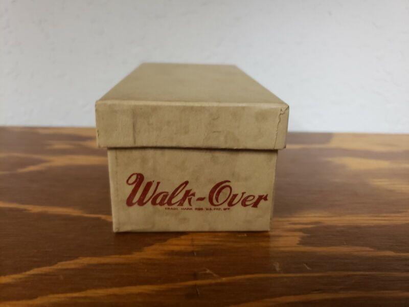 Walk Over Shoes Brown Miniature Salesman Sample with Original Advertising Box