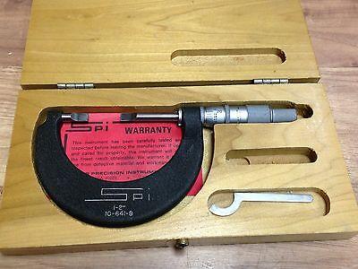 Nice Spi 10 - 641 - 9 Blade Micrometer .0001 1 - 2