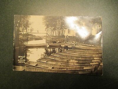 RPPC Scene at Bayfield Hotel Wooden Boats 1918 - 1930 Real Photo Postcard