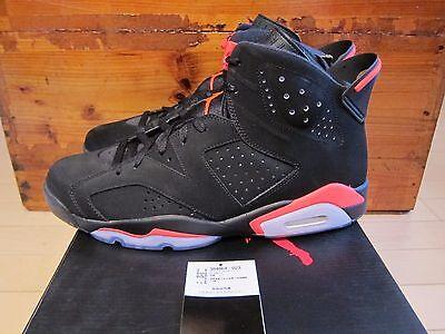 2014 Nike Air Jordan 6 VI Retro Black Infrared size 12.5