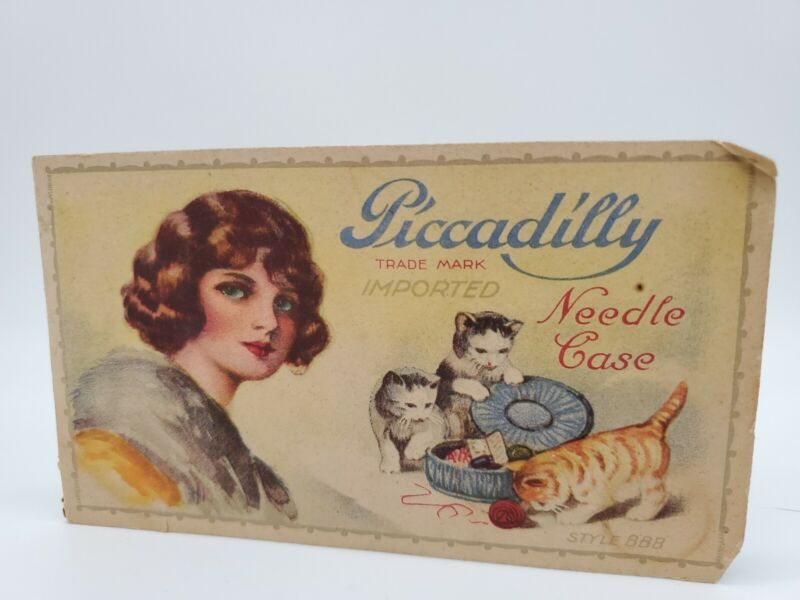 Piccadilly Needle Case with Needles Style BBB w/ Needles Vintage 1920s