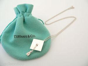 Tiffany Co Silver Graduation Graduate Cap Necklace Pendant