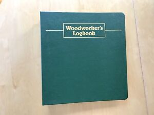 LEE VALLEY Woodworker's Logbook, NEVER USED Christmas / gift