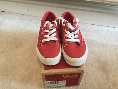 kids red vans size uk 12.5