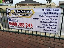 Signs and banners, stickers and labels, photo enlargements Angle Vale Playford Area Preview