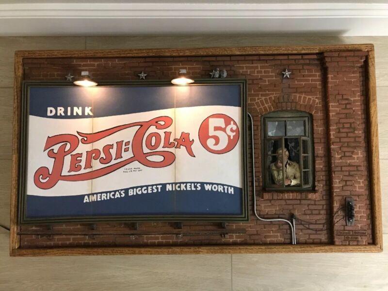 Michael Garman Pepsi Cola Lighted Billboard Sculpture (EXCELLENT CONDITION) RARE