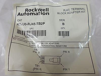 New Surplus Rockwell Automation Ak-u0-rj45-tb2p Terminal Block Adapter Kit Ser B