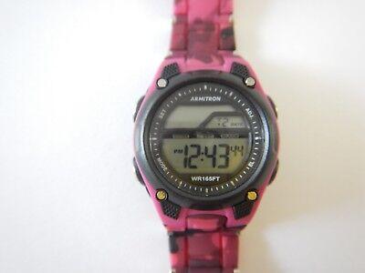 Womens Ladies Girls Pink Camouflage Camo Chronograph Sport Digital Watch WR165ft